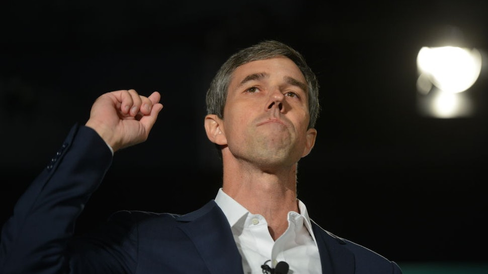 Beto O'Rourke, former Representative from Texas and 2020 Democratic presidential candidate, speaks during the American Federation of State, County & Municipal Employees (AFSCME) Public Service Forum in Las Vegas, Nevada, U.S., on Saturday, Aug. 3, 2019. Democratic presidential hopefuls attended the Public Service Forum to discuss their economic plans for working families, union employees and public workers.