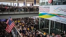 Hong Kong Protester Rally In Hong Kong International Airport