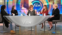 "THE VIEW - Stephen King is the guest today, Wednesday, September 11, 2019. ""The View"" airs Monday-Friday 11am-12pm, ET on ABC. (Jeff Neira/Walt Disney Television via Getty Images) WHOOPI GOLDBERG, ABBY HUNTSMAN, JOY BEHAR, SUNNY HOSTIN, MEGHAN MCCAIN"