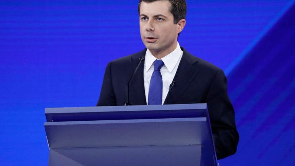 Pete Buttigieg speaks at presidential debate