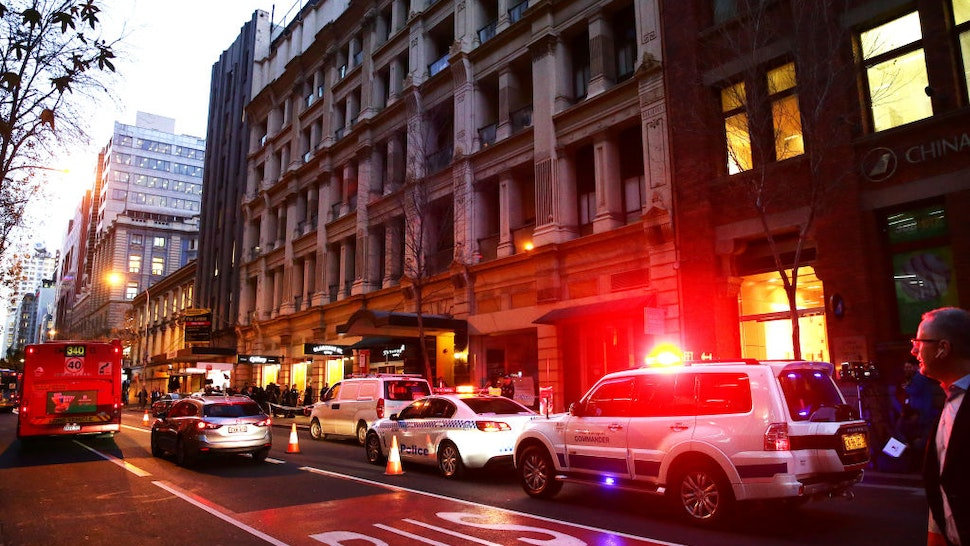SYDNEY, AUSTRALIA - AUGUST 13: A general view outside 118 Clarence St on August 13, 2019 in Sydney, Australia. One woman is dead, and another injured after man went on a stabbing attack through Sydney's CBD on Tuesday afternoon. Police have the man in custody.