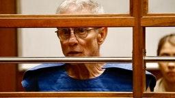 Prominent Democratic Party donor Ed Buck appears in court Thursday, September 19, 2019, on state charges of running a drug den in his West Hollywood apartment. Buck may also face federal prosecution for an earlier overdose death in the same residence.