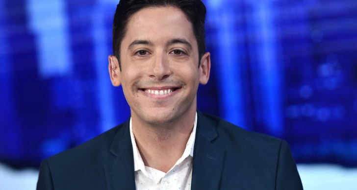 """Michael Knowles visits """"The Story with Martha MacCallum"""" in the Fox News Channel Studios on September 17, 2019 in New York City. (Photo by Steven Ferdman/Getty Images)"""