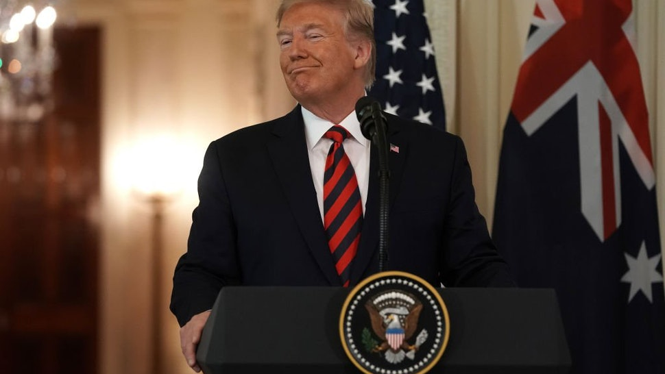 U.S. President Donald Trump participates in a joint news conference with Australian Prime Minister Scott Morrison in the East Room of the White House September 20, 2019 in Washington, DC.