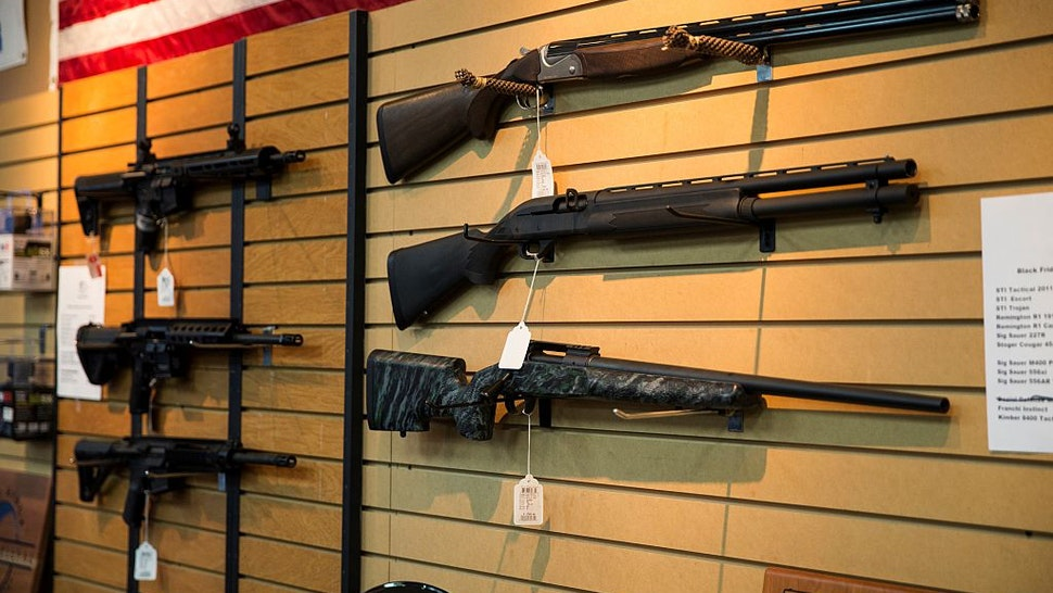 JANUARY 9: Shotguns and AR-15 style rifles for sale at Blue Ridge Arsenal in Chantilly, Va., USA on January 9, 2015.