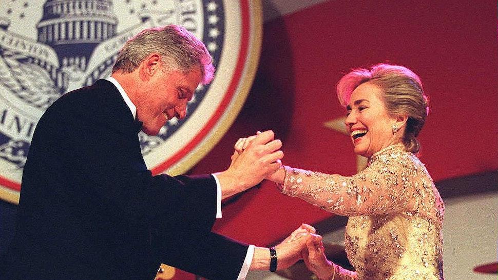 The Clintons At Inauguration 1997