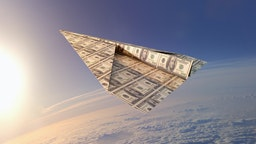 Paper Airplane Made From Money.