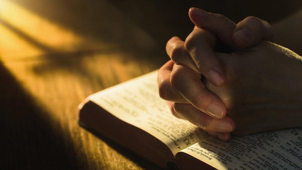 Prayer On Open Bible