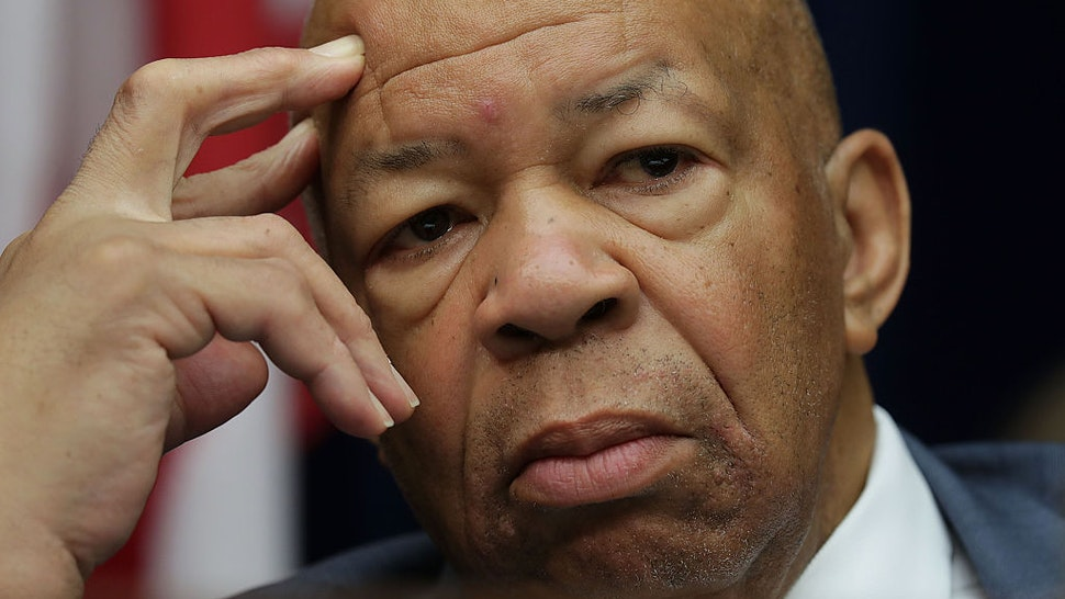 "WASHINGTON, DC - SEPTEMBER 13: Ranking member Rep. Elijah Cummings (D-MD) listens during a hearing on ""Examining Preservation of State Department Federal Records"" before the House Oversight and Government Reform Committee September 13, 2016 on Capitol Hill in Washington, DC. Bill Thornton and Paul Combetta of Platte River Network invoked their right under the Fifth Amendment not to answer questions, and Bryan Pagliano, a former IT advisor for the State Department did not show up to testify."
