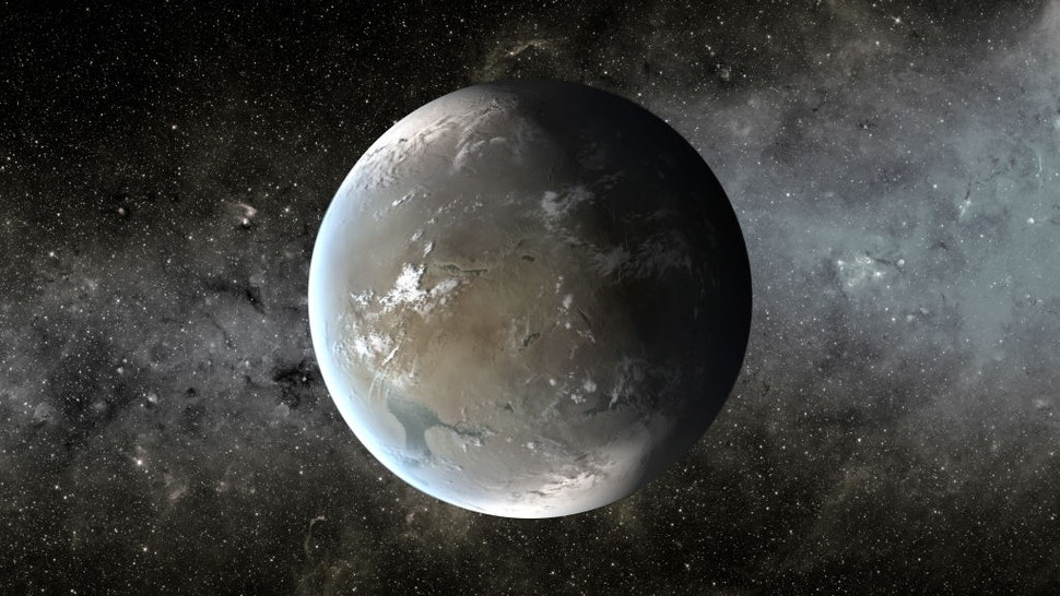 Kepler-62f (also known by its Kepler Object of Interest designation KOI-701.04) is a super-Earth exoplanet orbiting within the habitable zone of the star Kepler-62, the outermost of five such planets discovered by NASA's Kepler spacecraft. It is located about 1,200 light-years (370 parsecs, or nearly 1.135Ñ1016 km) from Earth in the constellation of Lyra.