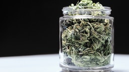 Jar of cannabis