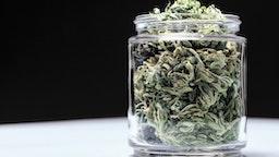 Jar of cannabis