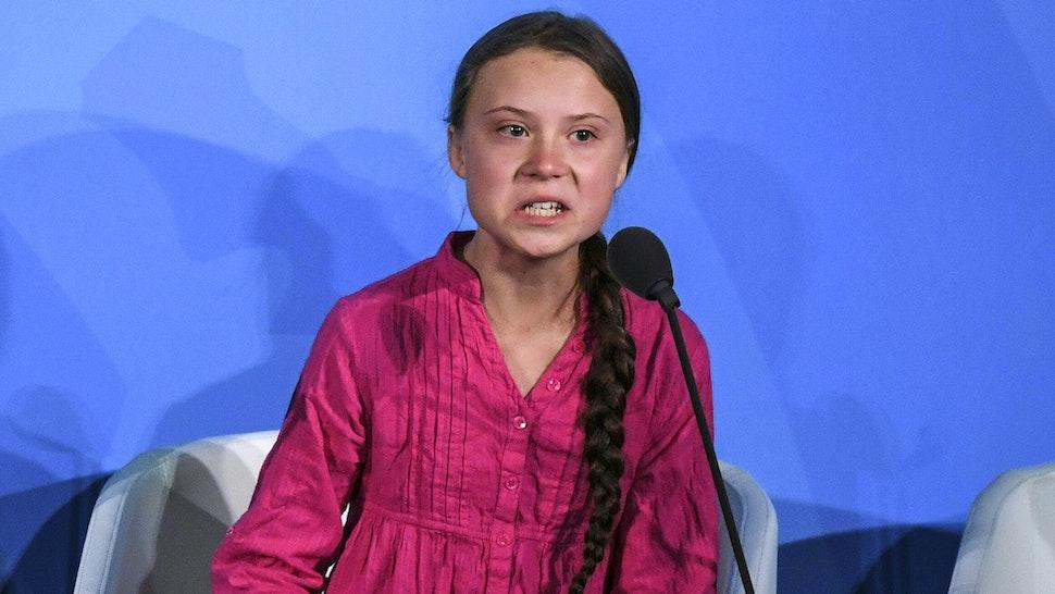 Greta Thunberg speaks at the United Nations