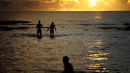 Sunset Beach On Guam: Tamuning, Guam, August 14