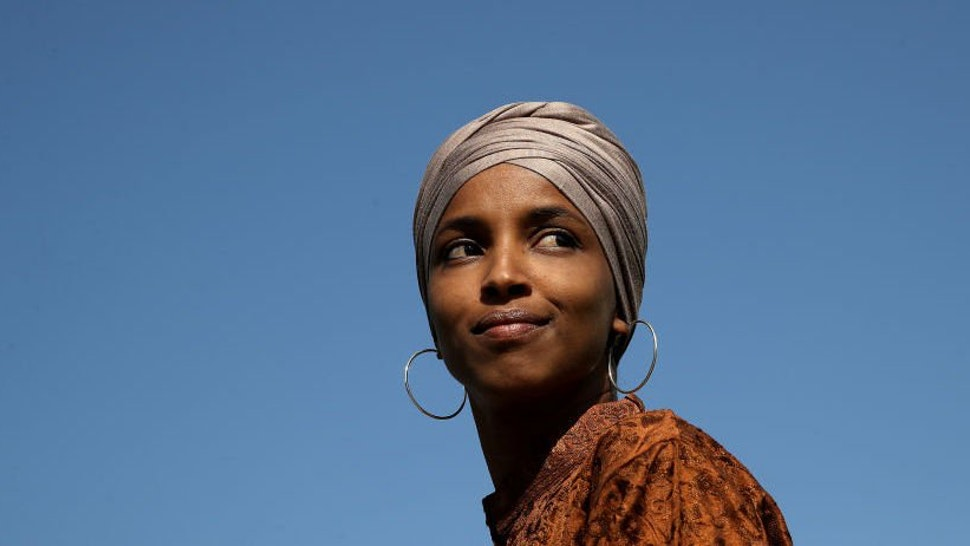 Rep. Ilhan Omar (D-MN) speaks at a press conference outside the U.S. Capitol July 25, 2019 in Washington, DC.
