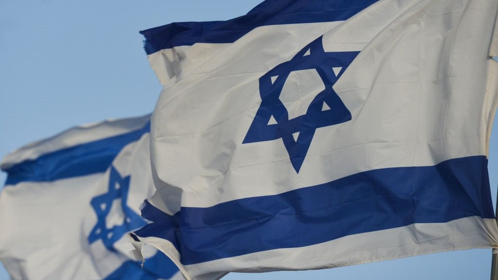 A view of the national flag of Israel in Eilat city center. On Tuesday, March 6, 2018, in Eilat, Israel.