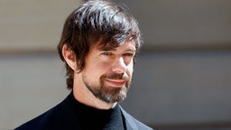 """Chief executive officer of Twitter Inc. and Square Inc. Jack Dorsey arrives to attend the """"Tech for Good"""" Summit at Hotel de Marigny on May 15, 2019 in Paris, France."""