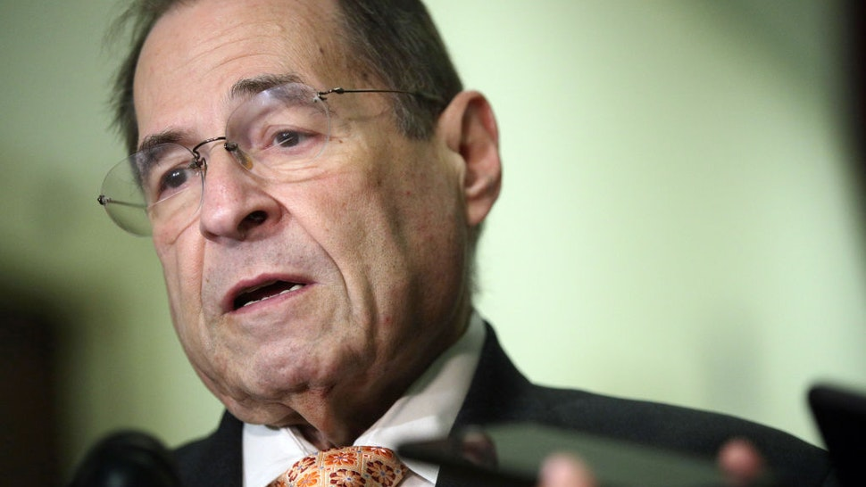 WASHINGTON, DC - JUNE 26: U.S. House Judiciary Committee Chairman Rep. Jerry Nadler (D-NY) speaks to members of the media at Rayburn House Office Building on Capitol Hill June 26, 2019 in Washington, DC. Special counsel Robert Mueller has agreed to testify on his investigation into President Donald Trump after a subpoena was issued by the House Judiciary and Intelligence Committees.