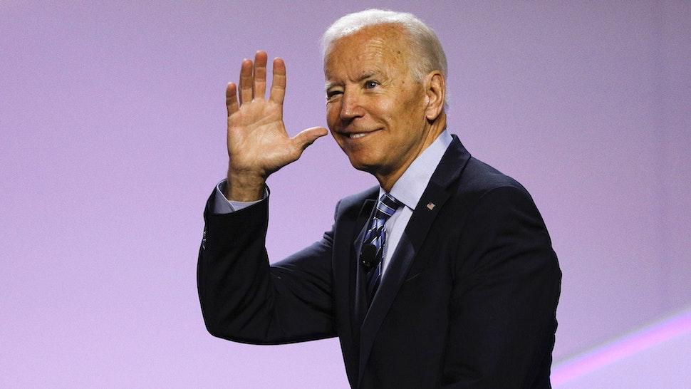 Joe Biden waving.