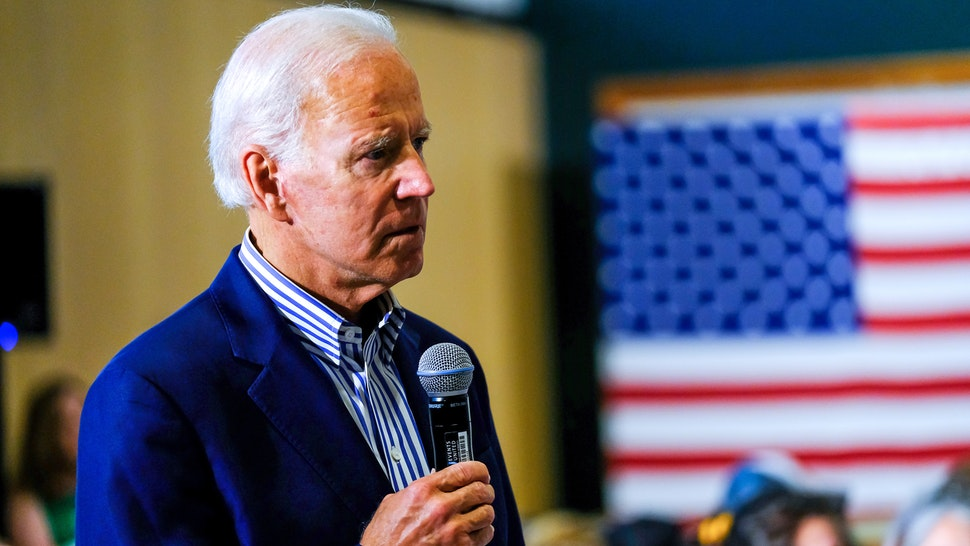HANOVER, NEW HAMPSHIRE, UNITED STATES - 2019/08/23: Former Vice President Joe Biden speaks during a campaign stop at Dartmouth University in Hanover, New Hampshire.