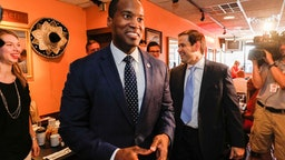 John James Campaigns With Marco Rubio -- 2018