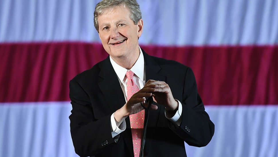John Kennedy speaks at a get-out-the-vote rally on December 9, 2016