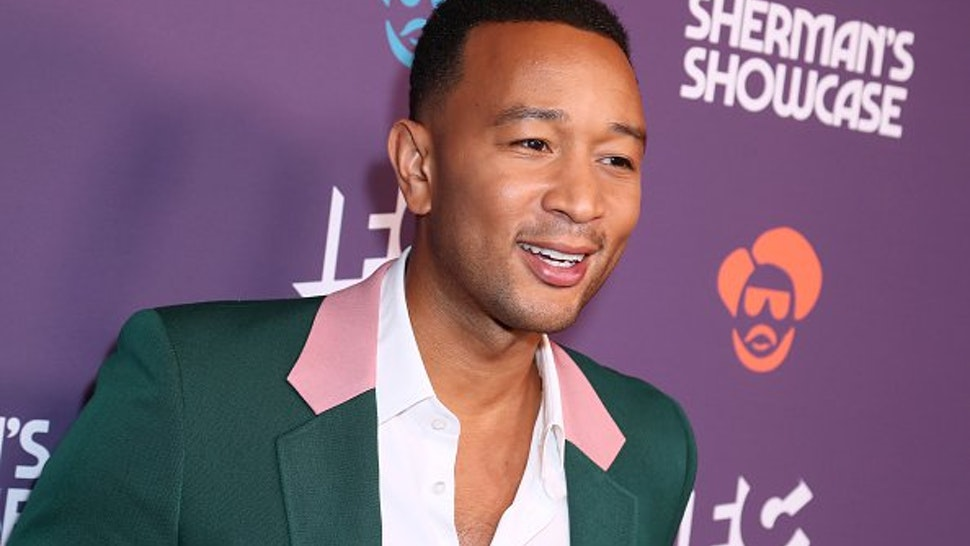"John Legend attends the Los Angeles Series Premiere Of IFC's New Variety Sketch Show ""Sherman's Showcase"" at The Peppermint Club on July 30, 2019 in Los Angeles, California."