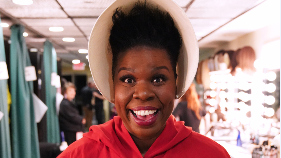 """""""Paul Rudd"""" Episode 1767 -- Pictured: Leslie Jones as a hand maiden, backstage in studio 8H on Saturday, May 18, 2019"""