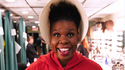 """Paul Rudd"" Episode 1767 -- Pictured: Leslie Jones as a hand maiden, backstage in studio 8H on Saturday, May 18, 2019"