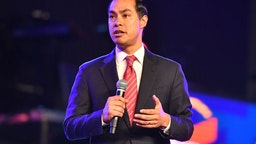 Julian Castro speaks on stage during Young Leaders Conference 2019 - 2020 Presidential Candidates Forum.