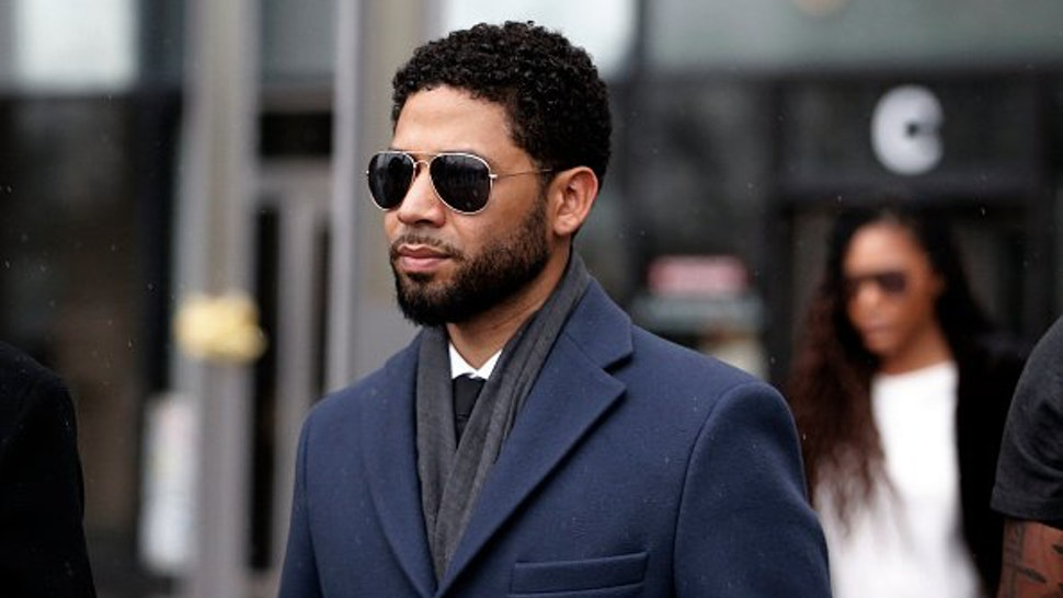 Actor Jussie Smollett leaves Leighton Criminal Courthouse after his court appearance on March 14, 2019 in Chicago, Illinois.