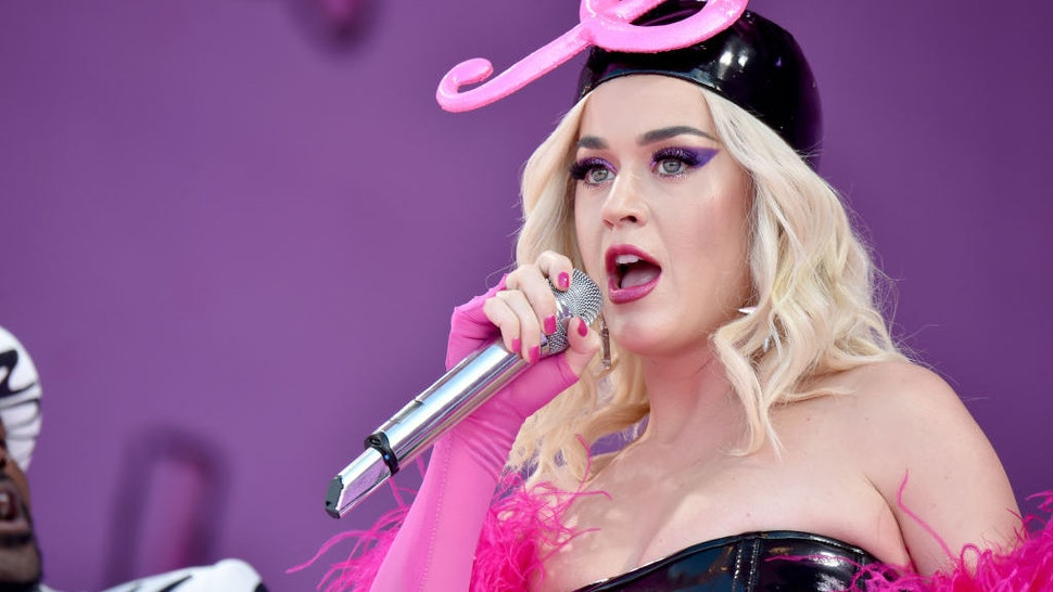 Katy Perry performs during the New Orleans Jazz and Heritage Festival 2019 50th Anniversary at Fair Grounds Race Course on April 27, 2019 in New Orleans, Louisiana.