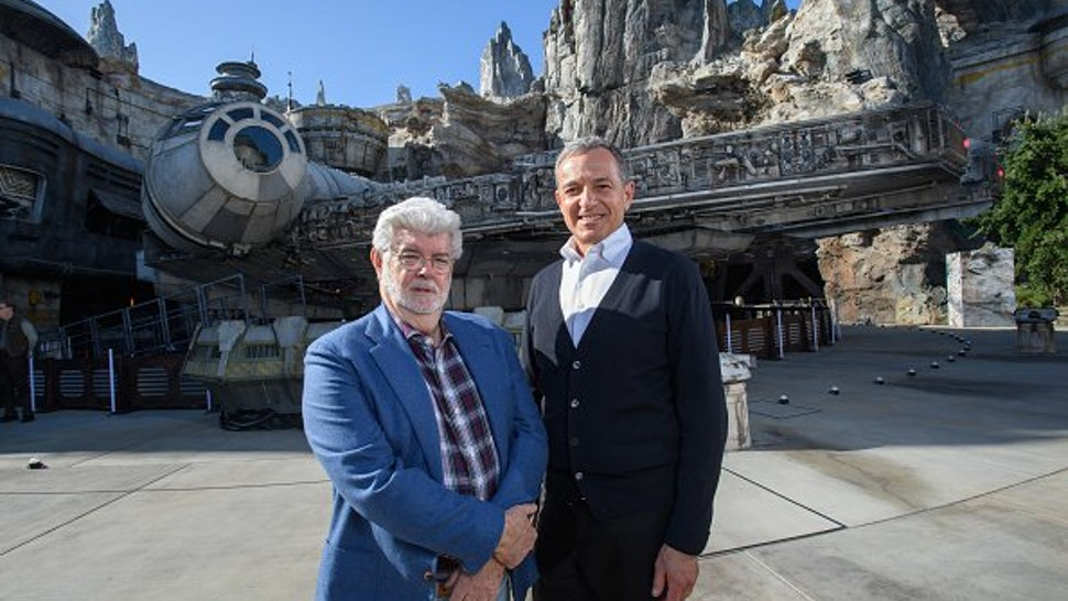 In this handout photo provided by Disneyland Resort, Walt Disney Company Chairman and CEO Bob Iger