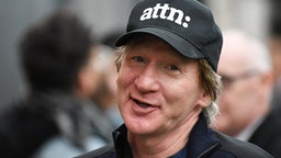 Bill Maher seen at Jimmy Kimmel Live on January 18, 2017 in Los Angeles, California.