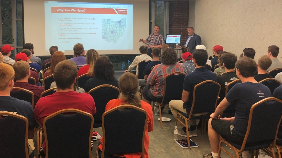 Trump Victory hosted a training and recruitment session for college conservatives to help re-elect President Donald Trump in 2020