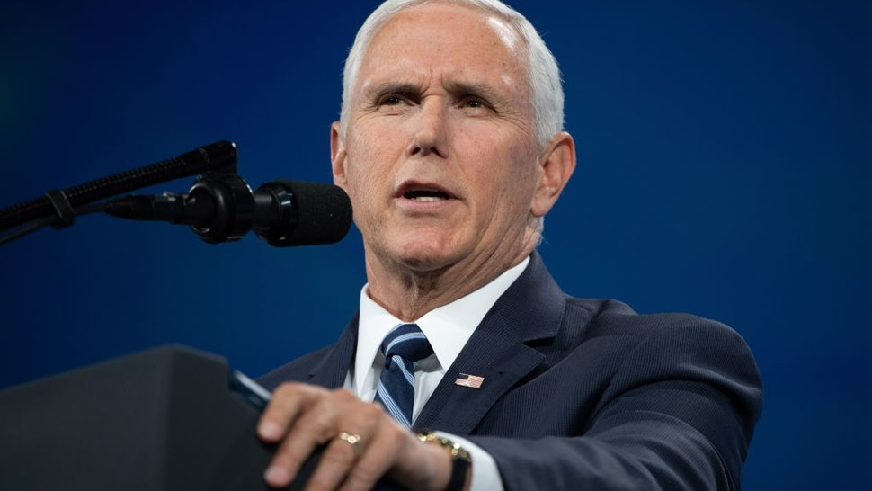 Vice President Mike Pence speaks at the National Rifle Association (NRA) Annual Meeting
