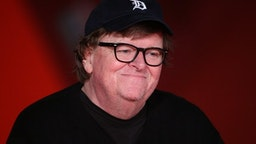 """Michael Moore walks the red carpet ahead of the """"Fahreneit 11/9"""" screening during the 13th Rome Film Fest at Auditorium Parco Della Musica on October 20, 2018 in Rome, Italy."""