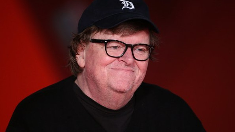 "Michael Moore walks the red carpet ahead of the ""Fahreneit 11/9"" screening during the 13th Rome Film Fest at Auditorium Parco Della Musica on October 20, 2018 in Rome, Italy."