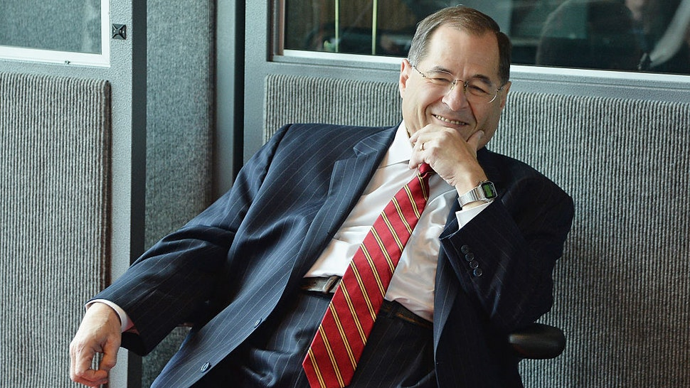 NEW YORK, NY - OCTOBER 14: Congressman Jerry Nadler speaks at the GIMD Town Hall at Jungle City Studios on October 14, 2015 in New York City.
