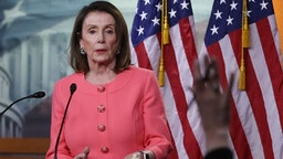 House Speaker Nancy Pelosi (D-CA) speaks during her weekly news conference on Capitol Hill, May 2, 2019 in Washington, DC.