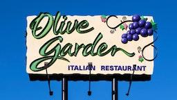 KISSIMMEE, FLORIDA, UNITED STATES - 2019/01/25: Olive Garden restaurant billboard ad.