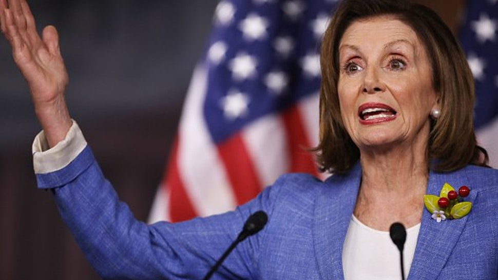 Speaker of the House Nancy Pelosi (D-CA) holds her weekly press conference at the U.S. Capitol Visitors Center July 26, 2019 in Washington, DC.