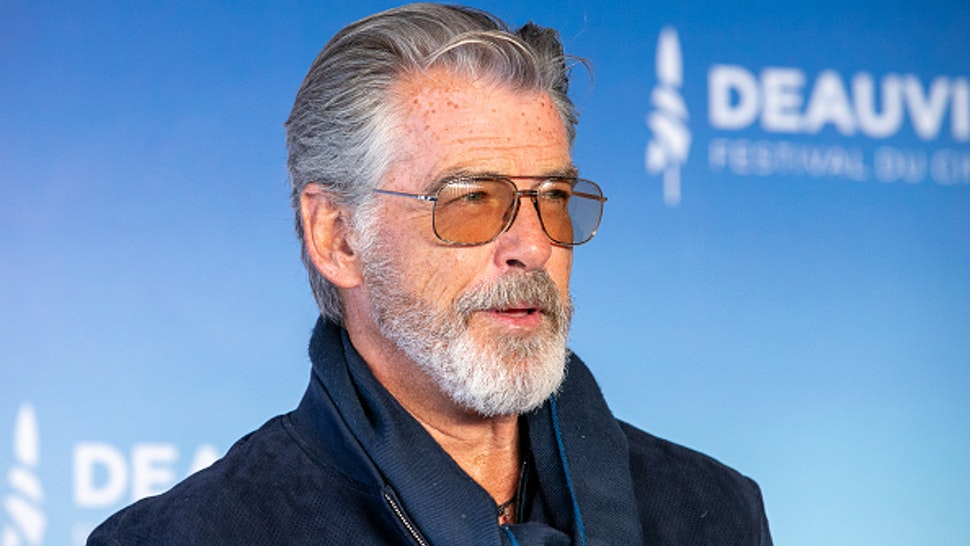 Actor Pierce Brosnan attends a photocall during the 45th Deauville American Film Festival on September 07, 2019 in Deauville, France.