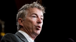 Sen. Rand Paul, R-Ky., speaks during the Senate Republicans' news conference in the Capitol