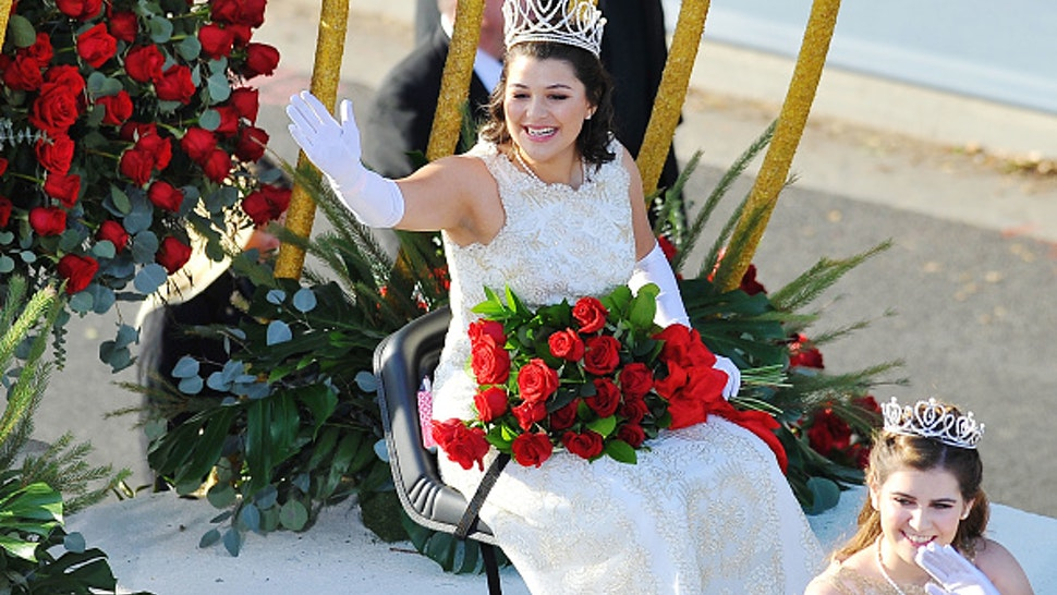 PASADENA, CA - JANUARY 01: Rose Queen Isabella participates in the 2018 Tournament Of Roses Parade Presented By Honda on January 1, 2018 in Pasadena, California.