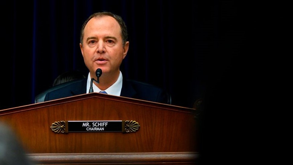 Committe Chairman Adam Schiff, Democrat of California, listens to testimony from Acting Director of National Intelligence Joseph Maguire at the House Permanent Select Committee on Intelligence on September 26, 2019, in Washington, DC