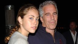Guest and Jeffrey Epstein attend Imperia U.S. Launch Party at The Statue Of Liberty at Liberty Island on September 7, 2005 in New York City.