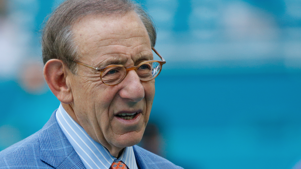 Chairman of the Board/Managing General Partner Stephen M. Ross of the Miami Dolphins watches the team warm up prior to the NFL game against the New York Jets on November 4, 2018 at Hard Rock Stadium in Miami Gardens, Florida. The Dolphins defeated the Jet