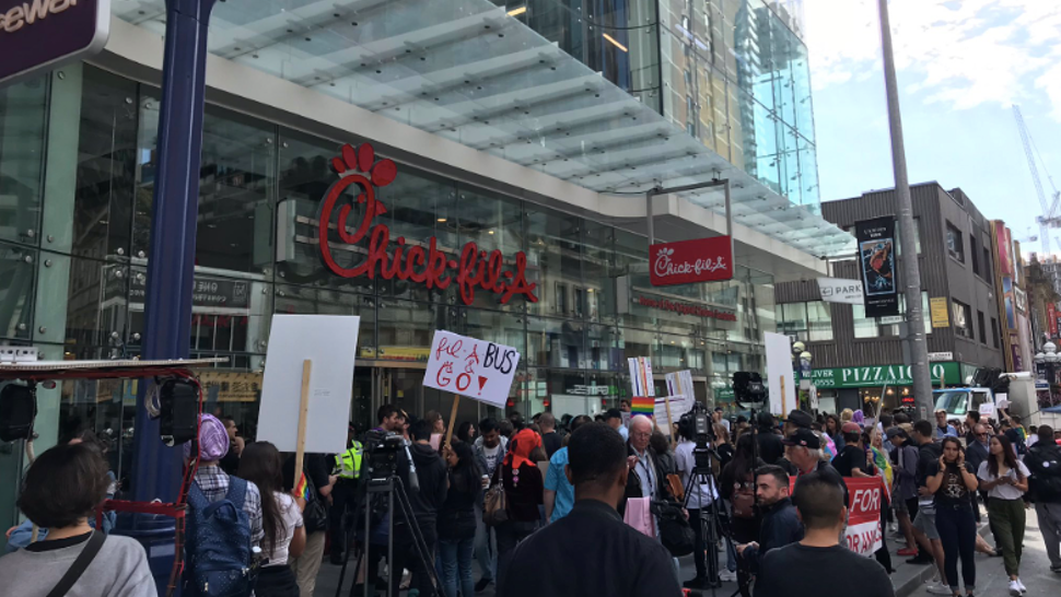 Chick-fil-A grand opening in Toronto, Canada