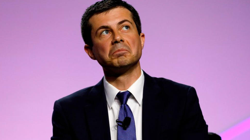 Democratic presidential hopeful Pete Buttigieg addresses the Presidential Forum at the NAACP's 110th National Convention at Cobo Center on July 24, 2019, in Detroit, Michigan.